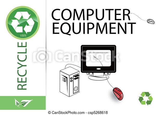 Please recycle computer equipment - csp5268618