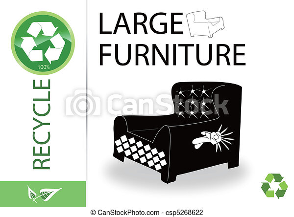 Please recycle large furniture - csp5268622