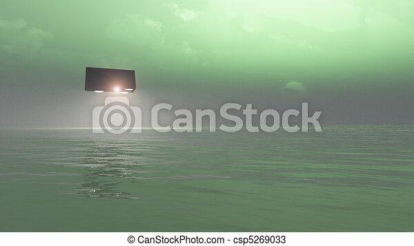 UFO Over The Sea  - csp5269033