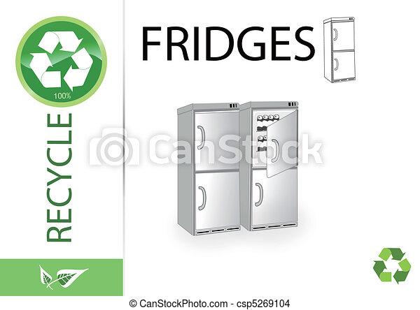 Please recycle fridges - csp5269104
