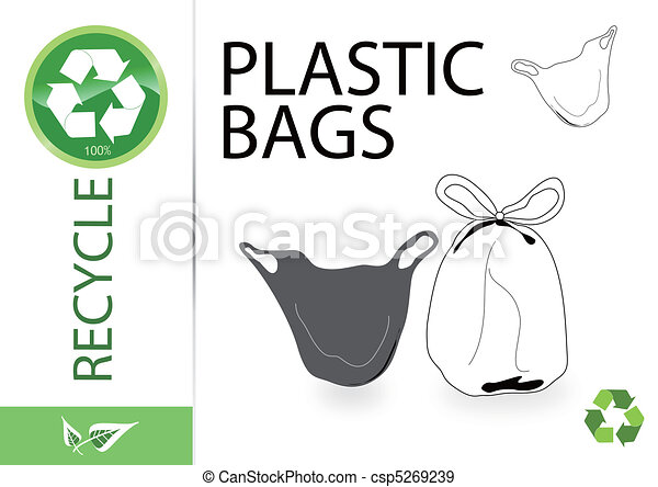 Please recycle plastic bags - csp5269239