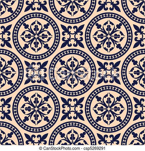 vektor clip art von antikes muster orientalische seamless muster antikes csp5269291. Black Bedroom Furniture Sets. Home Design Ideas