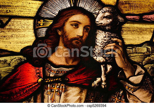 Jesus with Lamb - csp5269394