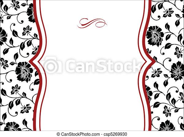 Vector Floral Red Floral Frame - csp5269930