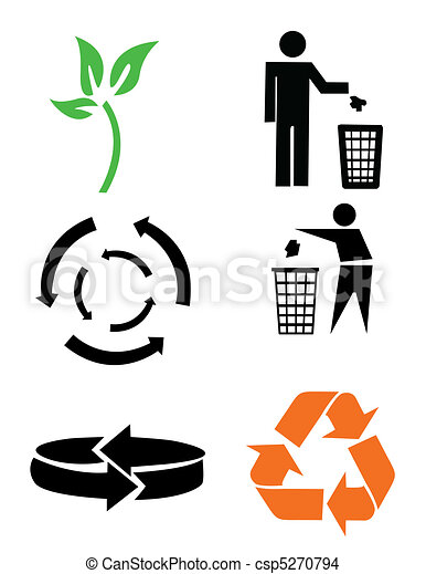Environmental conservation symbols - csp5270794
