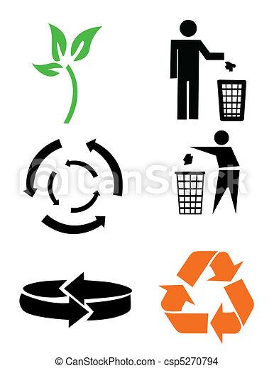 Environmental conservation symbols - csp5270794