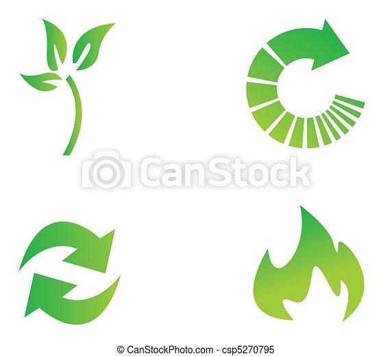 Environmental conservation symbols - csp5270795