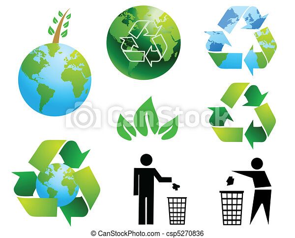Environmental conservation symbols - csp5270836