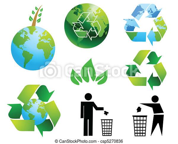 Environmental conservation symbols - csp5270836