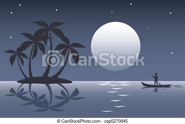 tropical palm island - csp5270945