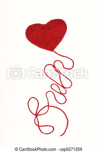 Heart with a thread - csp5271259