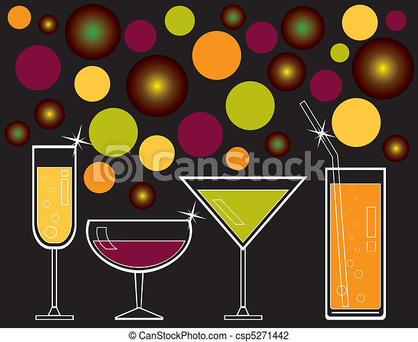 alcoholic drinks and juice - csp5271442