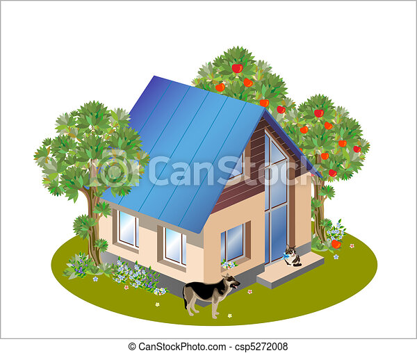 model of three dimensions family  house - csp5272008