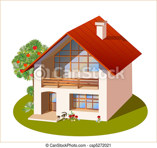 model of three dimensions family  house - csp5272021