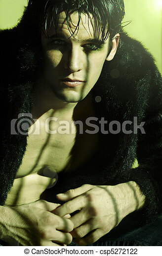 man in fur - csp5272122
