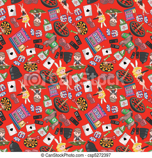seamless casino pattern  - csp5272397