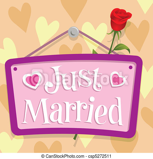 Just Married Sign - csp5272511