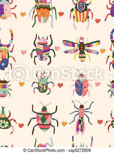 seamless bug pattern  - csp5272809