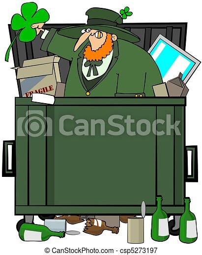 Leprechaun Dumpster Diver - csp5273197