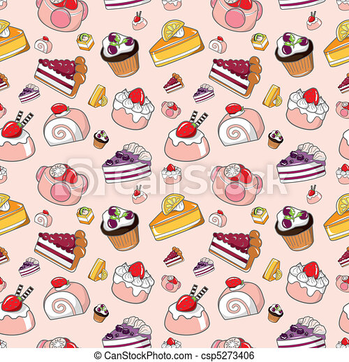 seamless candy pattern - csp5273406