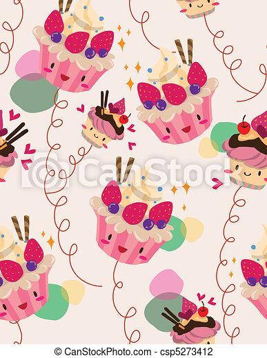seamless cake pattern - csp5273412