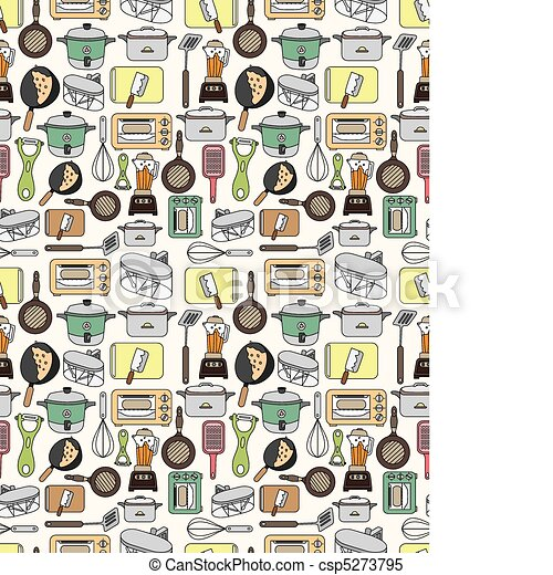 seamless Kitchen pattern  - csp5273795