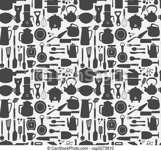 seamless kitchen pattern - csp5273810