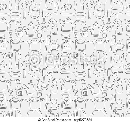 seamless cooking pattern - csp5273824