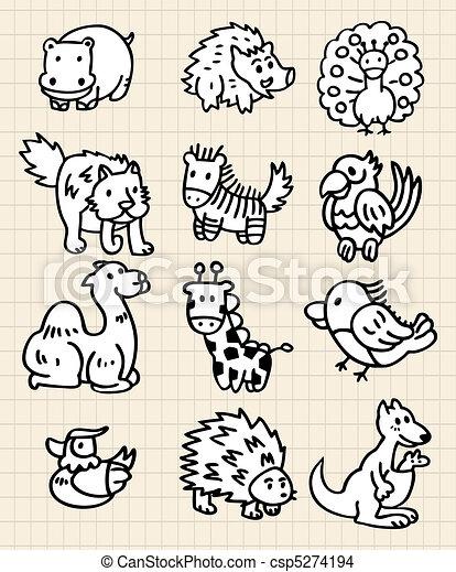 EPS Vector Of Cute Cartoon Animal