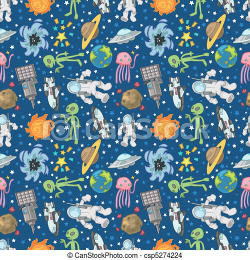 seamless Space pattern  - csp5274224