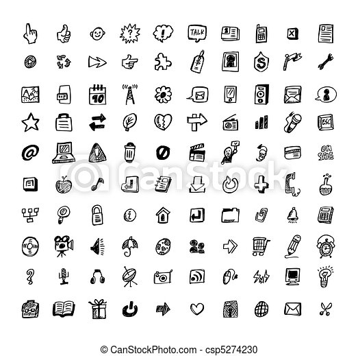 hand draw arrow icon  - csp5274230