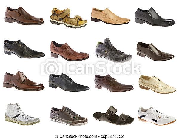 dieciséis, zapatos, hombre - csp5274752