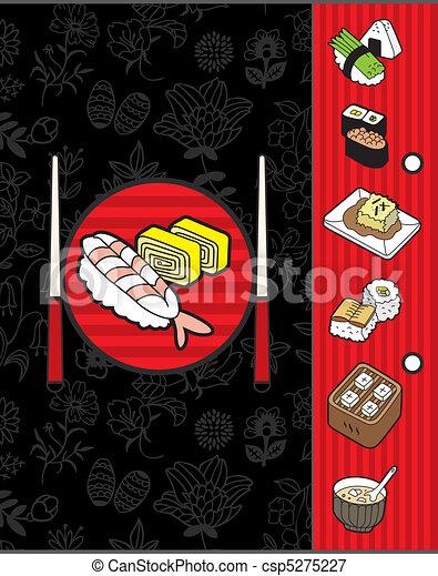 japan menu template - csp5275227