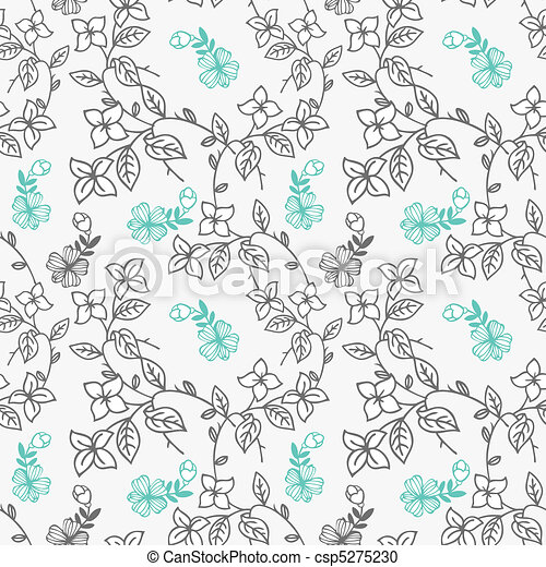 pattern flower  - csp5275230