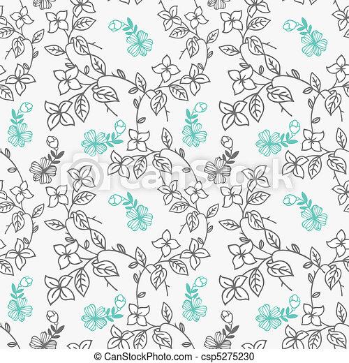 pattern flower  - csp5275230