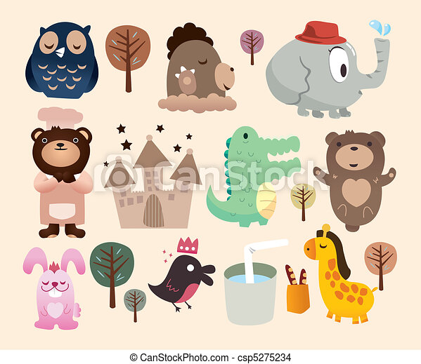 cartoon zoo icon - csp5275234