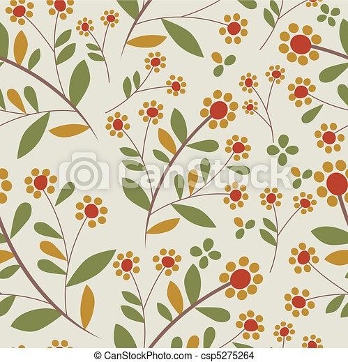 pattern flower  - csp5275264