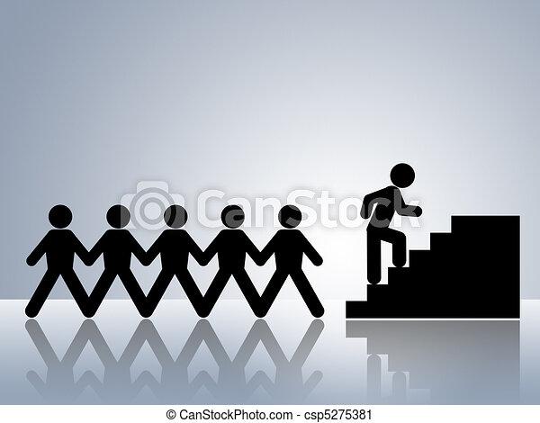 climbing stairs job promotion - csp5275381