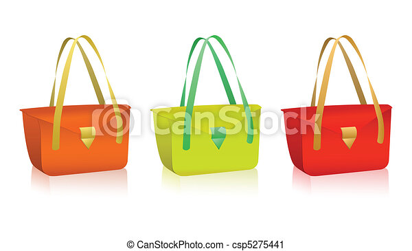 Vector colorful bags  - csp5275441