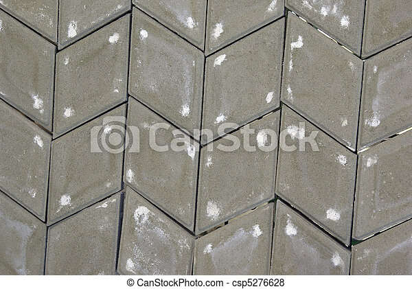 gray rhombus paving stone - csp5276628