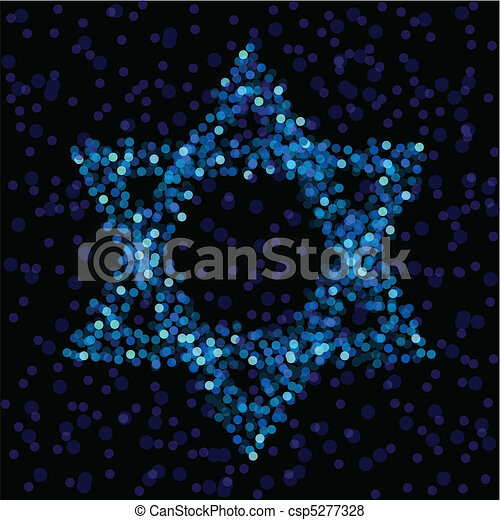 Light Star of David - csp5277328