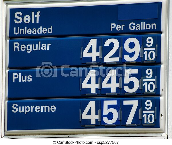 High Gas Prices - csp5277587
