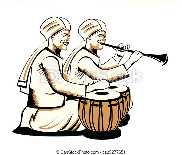 indian musical performers - csp5277651