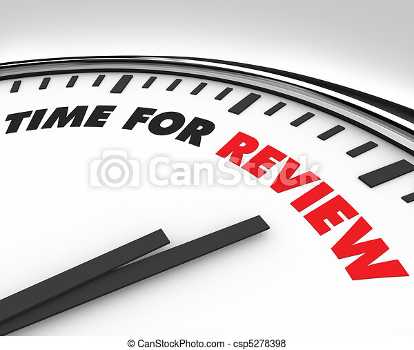 Time for Review - Clock - csp5278398