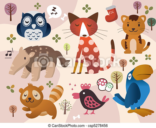 cute animal zoo - csp5278456