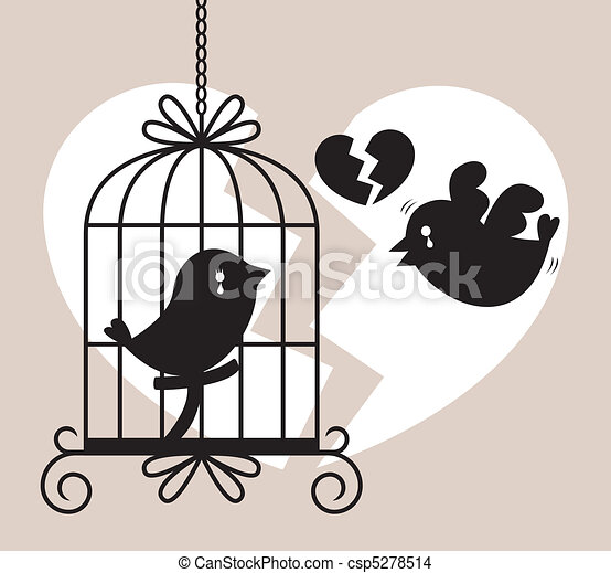 bird cry card  - csp5278514