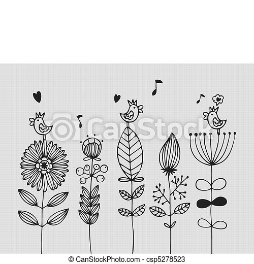 flower card  - csp5278523