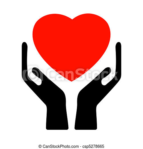 Hands holding the heart. EPS 8 - csp5278665