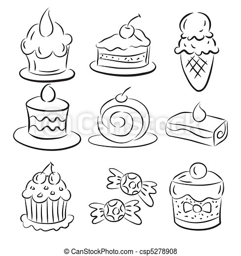 sketch cake element - csp5278908