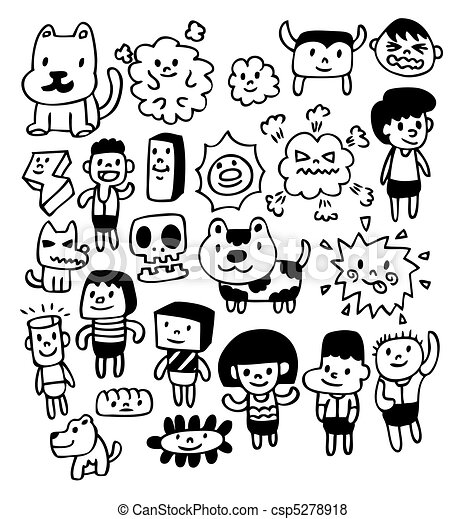 hand draw cute cartoon - csp5278918